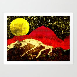 Storm on Red Mountain Art Print