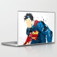 man of steel Laptop & iPad Skins featuring Man of Steel by ALmighty1080