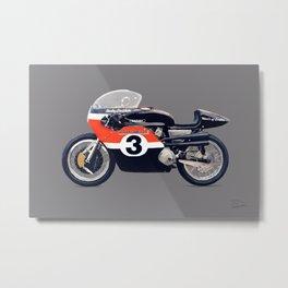 '72 Harley Davidson XR750TT Metal Print