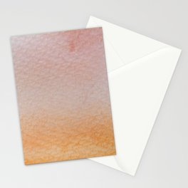 Gradient watercolor - orange and living coral Stationery Cards