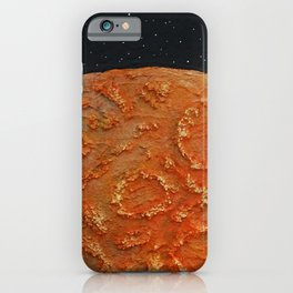 Mars / Mixed Media Painting iPhone Case