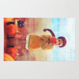Pumpkin Girl - Autumn - Halloween Rug