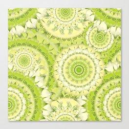 Delicate Mandala Pattern green Canvas Print