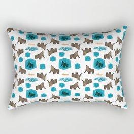 Cenozoic Extinction Event Pattern Rectangular Pillow