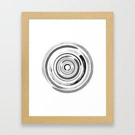 Enso Circles - Zen Circles #1 Framed Art Print