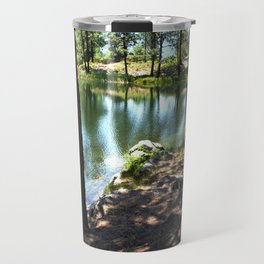 Cold, Clear Waters of Remote Forebay Lake Travel Mug