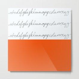 Alphabet-Orange Metal Print