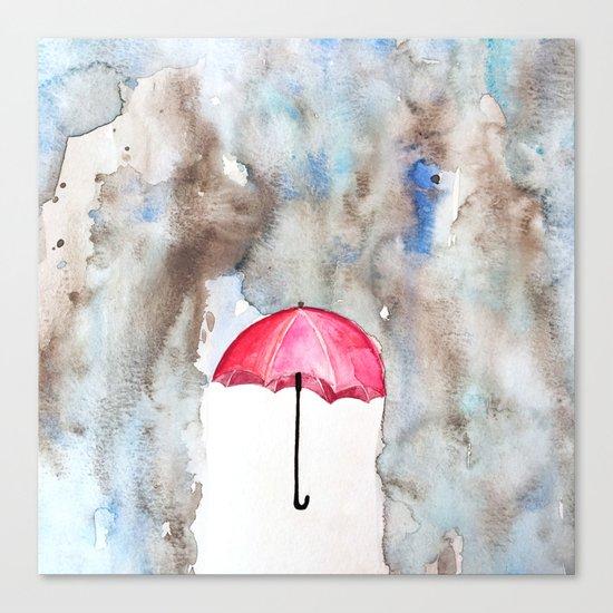 The Red Umbrella Canvas Print