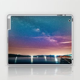 Milky Way Over Water Laptop & iPad Skin