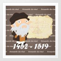 da vinci Art Prints featuring Leonardo da Vinci by Alapapaju