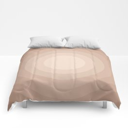 Circles on Circles Neutral No.1 Comforters