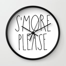 S'more Please Wall Clock