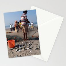 Fishermen Sorting the Catch Arambol Stationery Cards