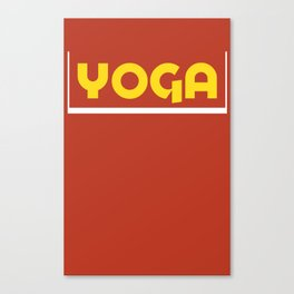 YOGA- amarillo Canvas Print