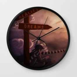 Reality and Dreams: which direction? Wall Clock