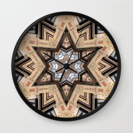 Architectural Star of David Wall Clock