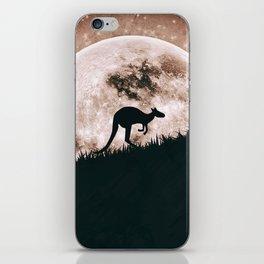 The solitary kangaroo iPhone Skin