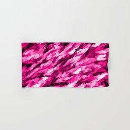 Hot Pink Designer Camo Hand & Bath Towel
