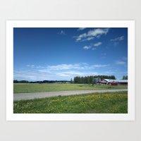 farm Art Prints featuring Farm by M.Jokinen