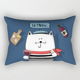 French cat, Le Meow... Rectangular Pillow