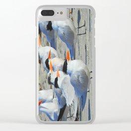 Elegant Terns Clear iPhone Case