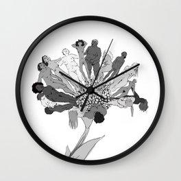 Fleur NuE Wall Clock