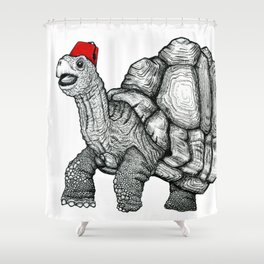 Tortoise in a Fez Shower Curtain