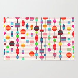 Colorful pearls Rug