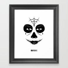Muerte Del Santo Framed Art Print