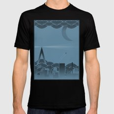 une nuit à paris (blue version) Mens Fitted Tee MEDIUM Black