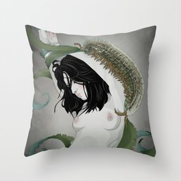 BUG GIRL Throw Pillow