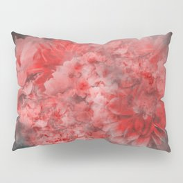 Abstract Red Flowers Pillow Sham