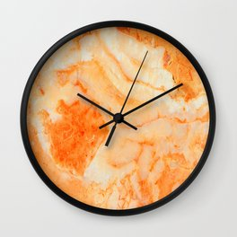 Orange Marble Wall Clock
