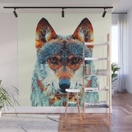 Wolf - Colorful Animals Wall Mural
