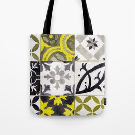 JD_tiled floor1–gouache Tote Bag