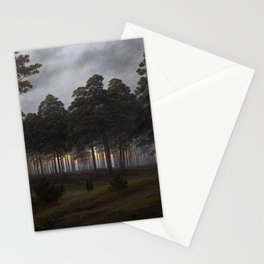 Caspar David Friedrich - The Times of Day - The Evening Stationery Cards