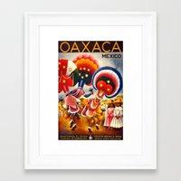 mexico Framed Art Prints featuring MEXICO by Kathead Tarot/David Rivera