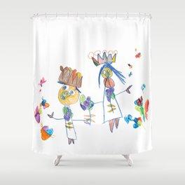 King, queen and butterflies Shower Curtain