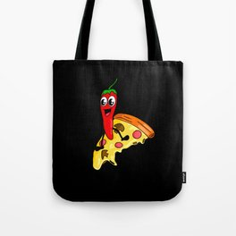 Pepperoni Pizza Surfing Tote Bag