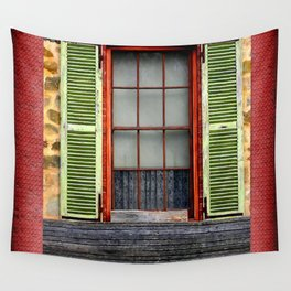 Window Shutters Wall Tapestry