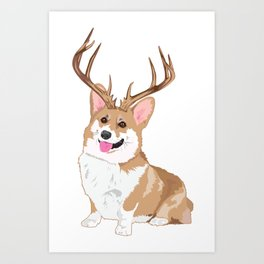 14 Point Penbroke Welsh Corgi Art Print