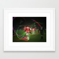 ronaldo Framed Art Prints featuring Ronaldo Remix by Shyam13