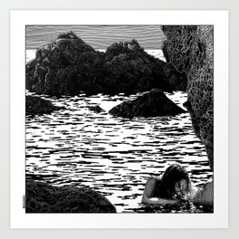 asc 903 - Les brisants (Marine life at the breakers) Art Print