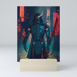 077 Samurai 2077 Mini Art Print