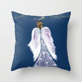 Future Angel Wings Throw Pillow