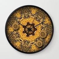 clockwork Wall Clocks featuring Clockwork Dream by DebS Digs Photo Art