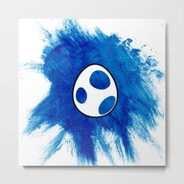 Yoshi Egg - Blue Metal Print