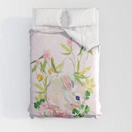 springtime bunny Comforters