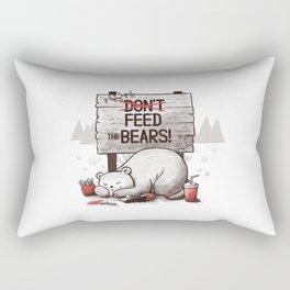 Don't Feed The Bears Rectangular Pillow
