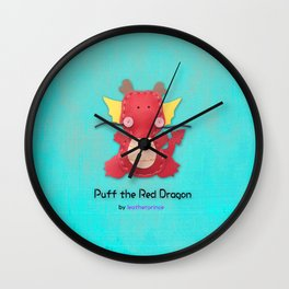 Puff the Red Dragon by leatherprince Wall Clock